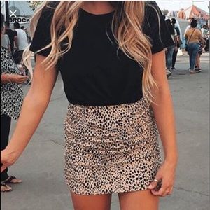 Brandy Melville Phoebe Cheetah Skirt